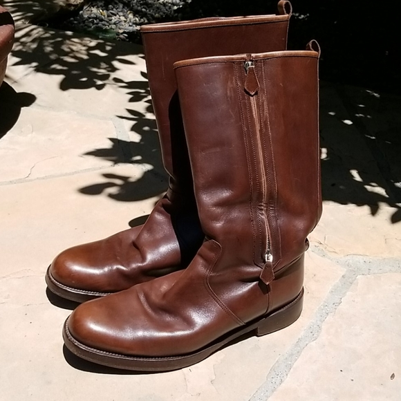 Hermes Other - HERMES Dlux Brown Leather Boots